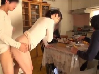 Mommy pantyhose footjob