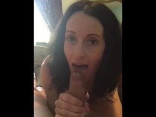 Giving perfect blowjob